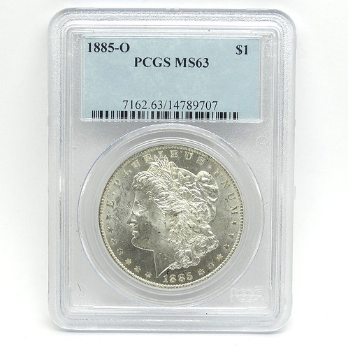 PCGS MS63 1885 O Morgan Silver $1 Dollar