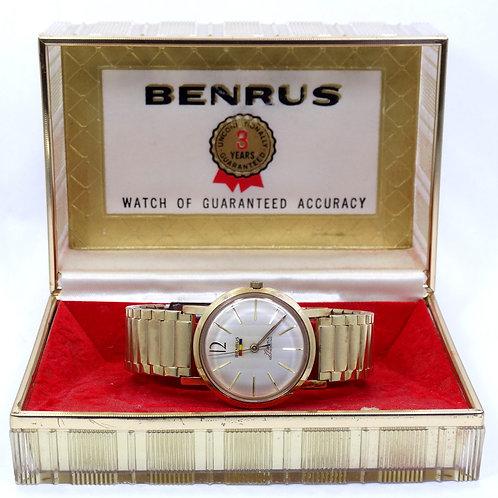 Vintage 1960's BENRUS #7001 Series 39 Jewel Automatic Self-Winding Watch