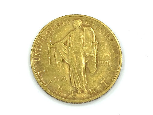Rare 1926 $2-1/2 US Gold Dollar SESQUICENTENNIAL American Independence Coin
