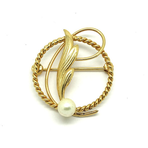 Mythological Gold Filled Pearl Rope Pin by CARLA
