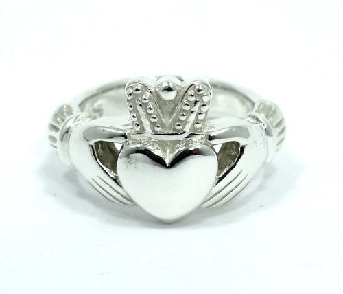 d4660db3b Beautiful CLADDAGH Irish Love Heavy Heart in Hands 925 Sterling Silver Ring