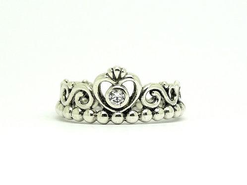 Princess PANDORA ALE Heart Tiara Crown 925 Sterling Silver Ring s.52