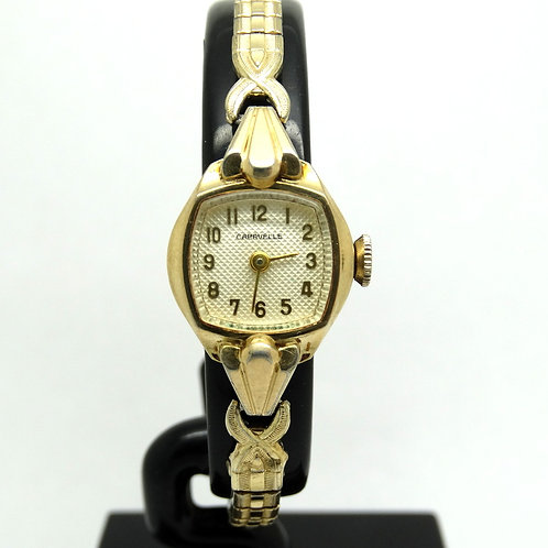 Ladies Gold Toned Vintage CARAVELLE Winding Watch