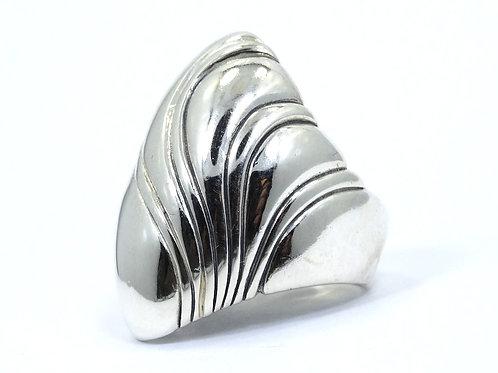 KABANA Domed Wave OCEAN Snail Sterling Silver Ring s.7