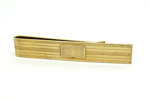 Signed CAMPUS Men's 12k 1/20 Gold Filled Tie Clip