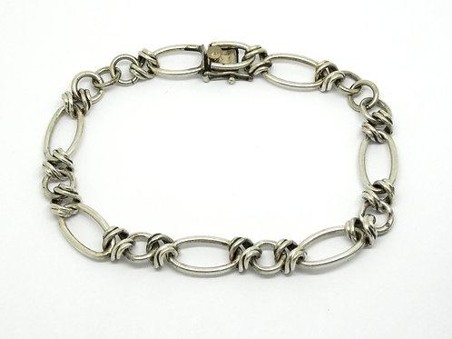 "Vintage KREMENTZ Sterling Silver Charm Bracelet 9"""