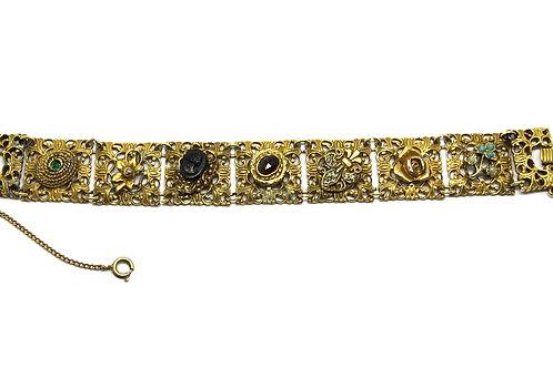French Ball GOLDETTE NY Slide Charm Bracelet