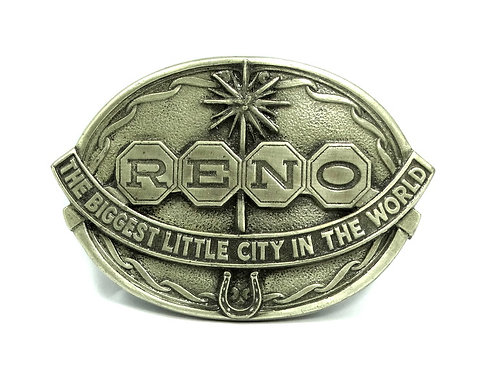 1985 RENO -Biggest Little City in the World- 2027 JOPA USA Belt Buckle