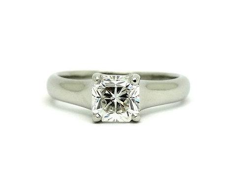 Tiffany & Co 1.07 Ct LUCIDA DIAMOND F VS1 Solitaire Platinum Engagement Ring