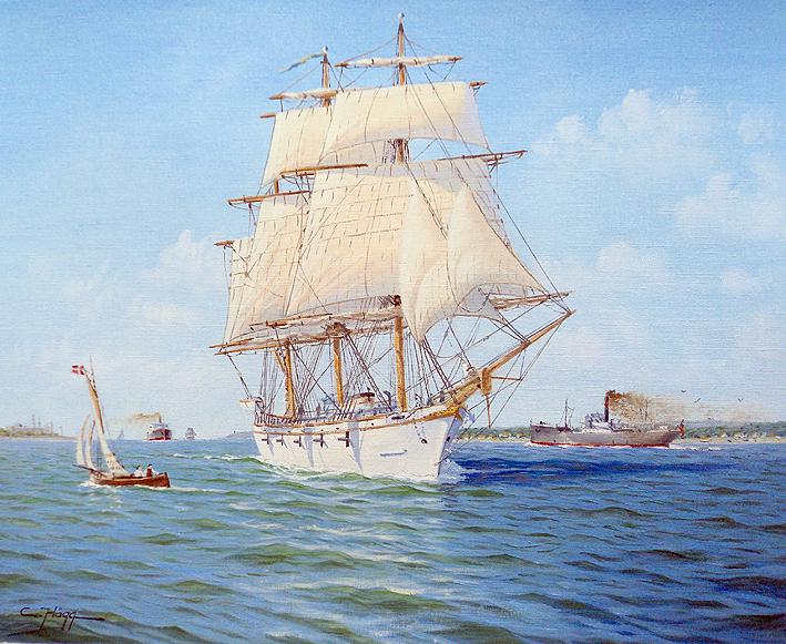 HMS Freja in Öresund