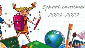 School enrolment 2021-2022