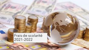 Frais de scolarité 2021-2022