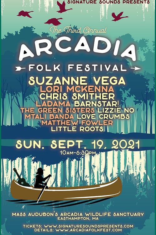 Arcadia Folk Fest 2021 Poster - (11x17)