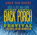 Back Porch Bluegrass Fest playlist