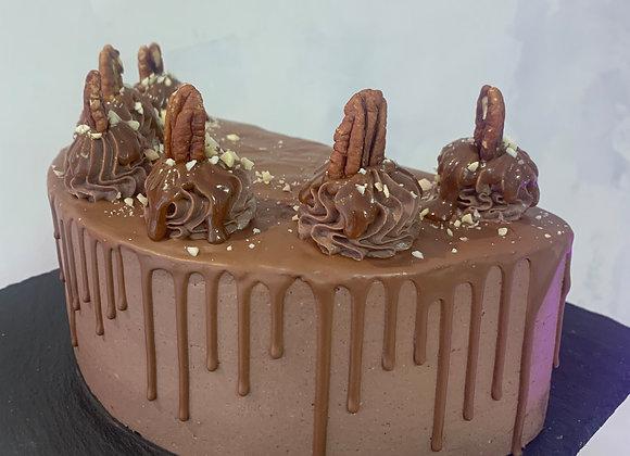 Торт Сникерс, кусок