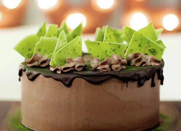 Торт Матча-шоколад, кусок