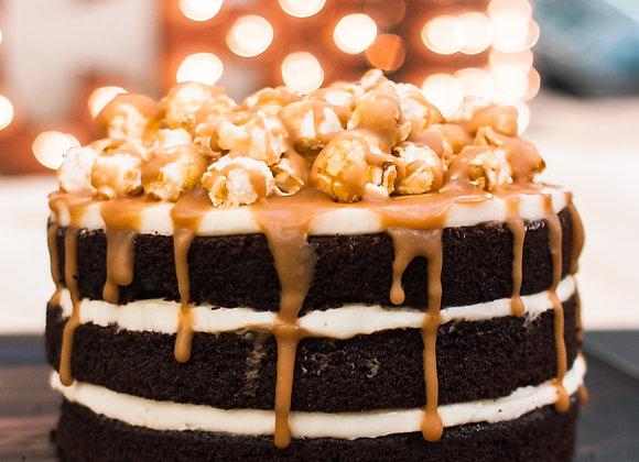Торт Солёная карамель, кусок