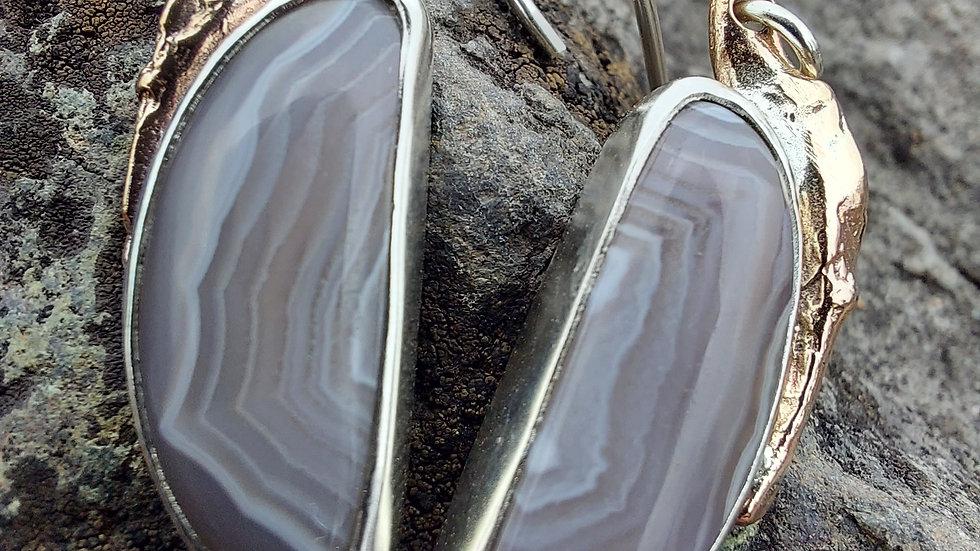 Lake Superior Agate Boreal Earrings