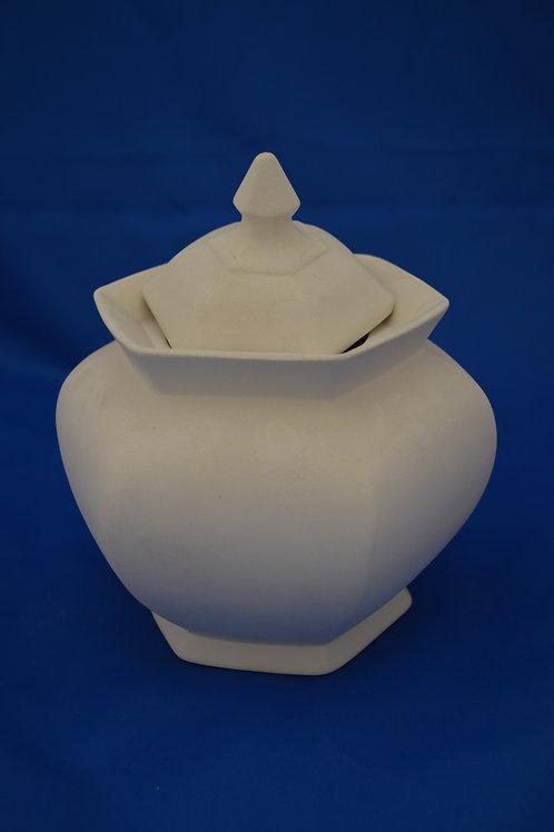 Lg Hex Vase, GB283  17cm Tall