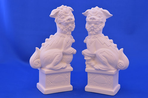 CHINESE DOGS , Pair , 23 cms , AM1320
