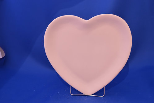 SMALL HEART PLATE, G3180, 19 cms