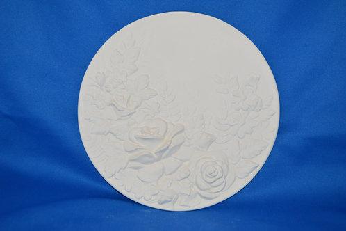 Rose Plate, 1782, 20 x 20 cms