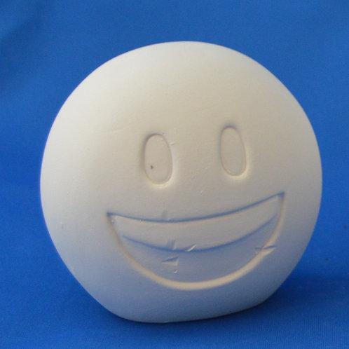 SMILEY FACE MONEY BOX, 10cms