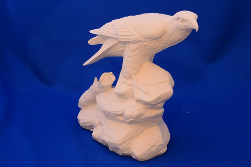 EAGLE PERCHED ON ROCK, DH1430, 26 cms