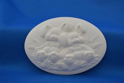 Bunny Plaque , D1391 , 15 x 10 cms
