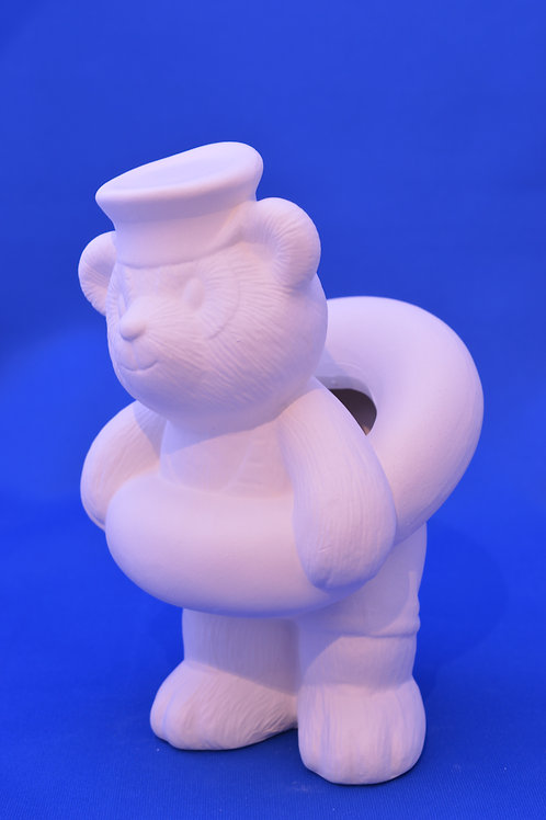 SAILOR BEAR TOOTHBRUSH HOLDER, DM1785, 16 cms