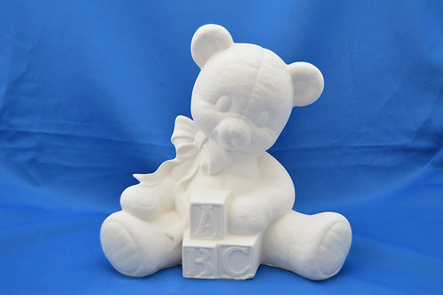 LGE SITTING ABC BEAR, GB505, 24 X 23 cms