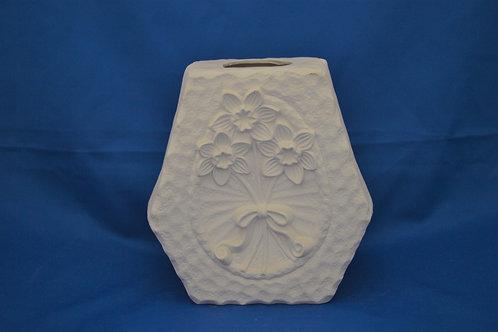 Daffodil and Rabbit Vase, 21 cms