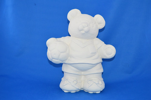 Football  Bear , C3020 , 26 x 20 cms