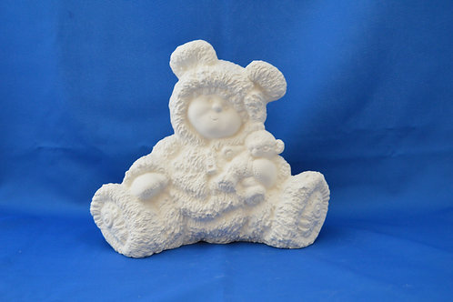 BUTTON BUDDY BEAR, G3173, 21cms