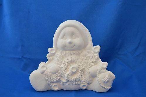 Large Snowman, 2563, 25 x 27 cms