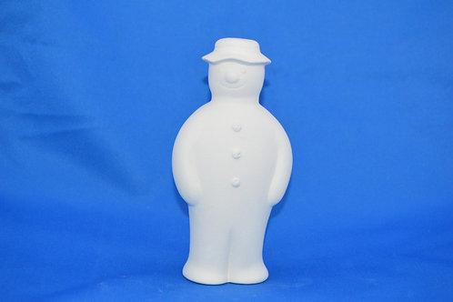 Snowman with flat cap, 16cms