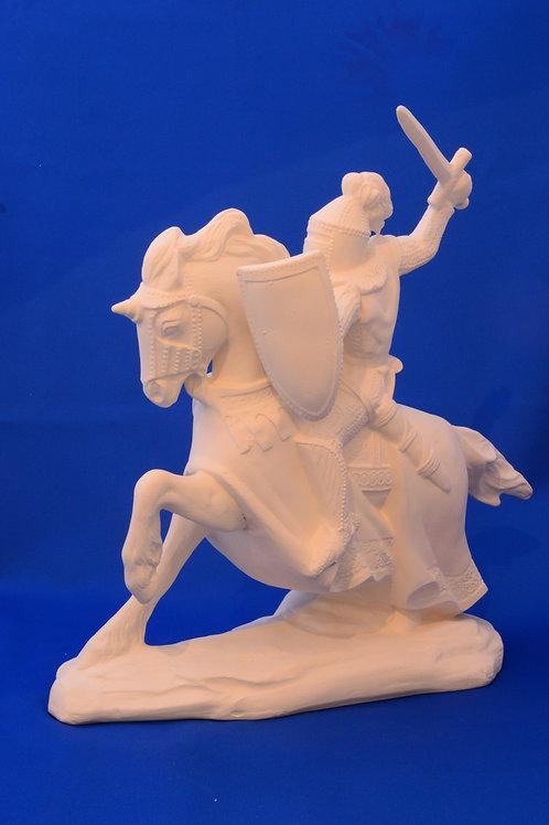 KNIGHT ON HORSE , DH1132, 30cms x 28cms