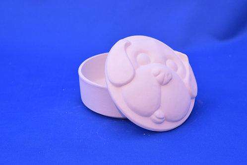 Dog Round BOX , GB280, 13 cms