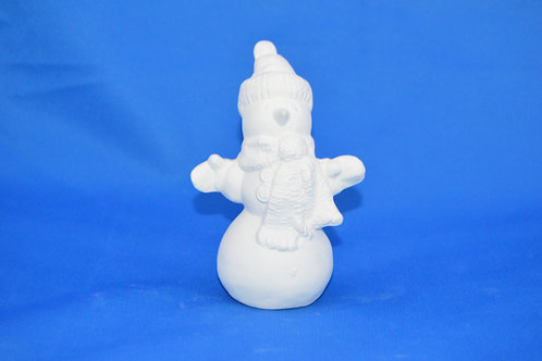 Snowman with bobble hat, 12cms