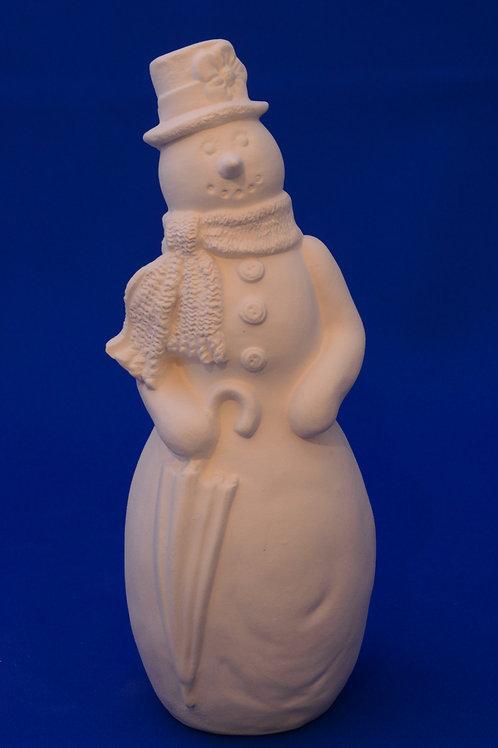 SNOWMAN WITH UMBRELLA,G3561, 20cms