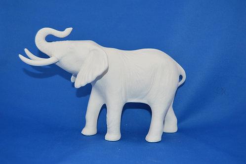 Elephant, trunk up , 125, 23 x 13 cms