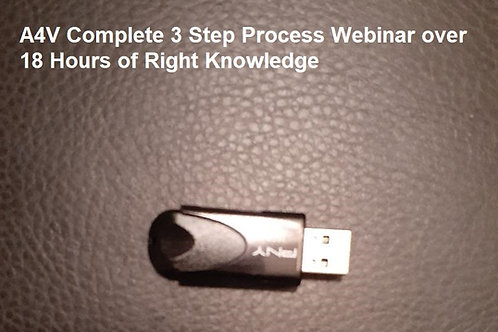 A4V Complete 3 Step Process Webinar over 18 Hours of Right Knowledge