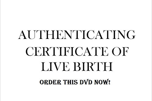 Authenicate Your Birth Certificate