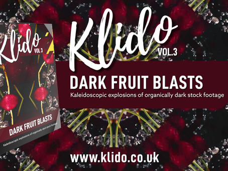 Klido Vol.3 - Dark Fruits Kaleidoscopic Stock Footage & VJ Loops in 4K