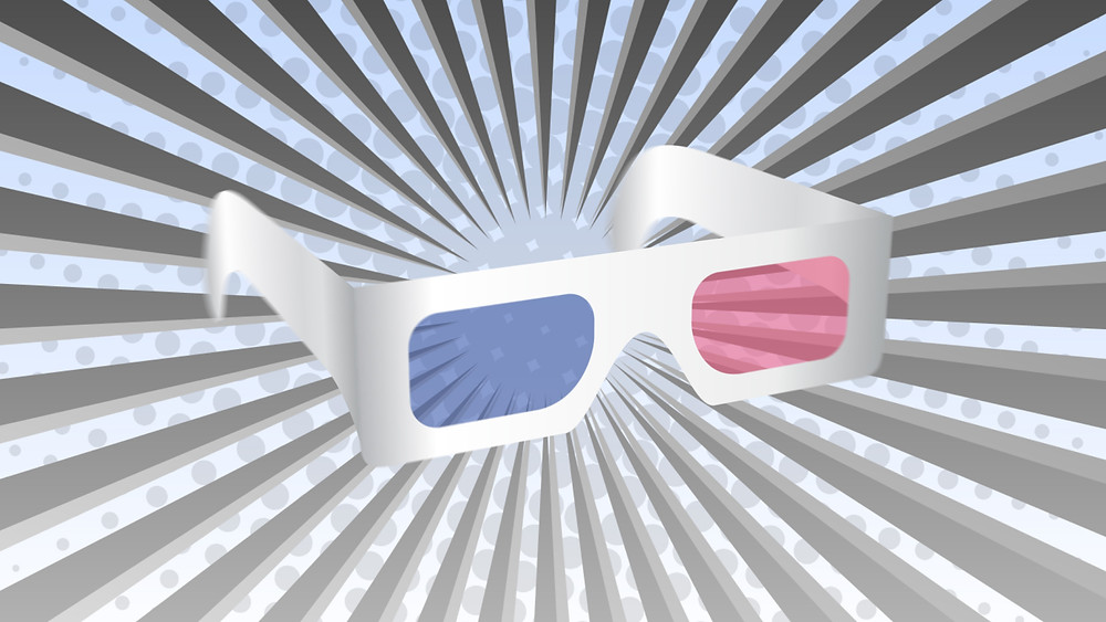 Anaglyph Red Cyan Stereoscopic 3D Glasses