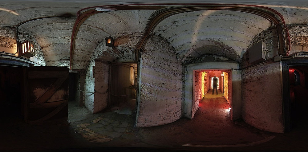Panoramic view of The Real Mary King's Close in Edinburgh