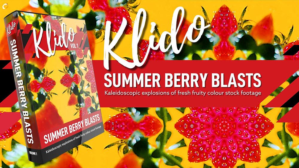 Kaleidoscope Summer Berry Fruit Stock Footage and VJ  Loops
