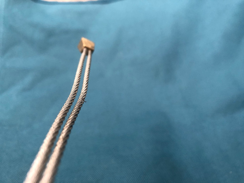 Nut with a broken strand