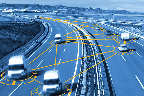 Car and technology. Autonomous car and s
