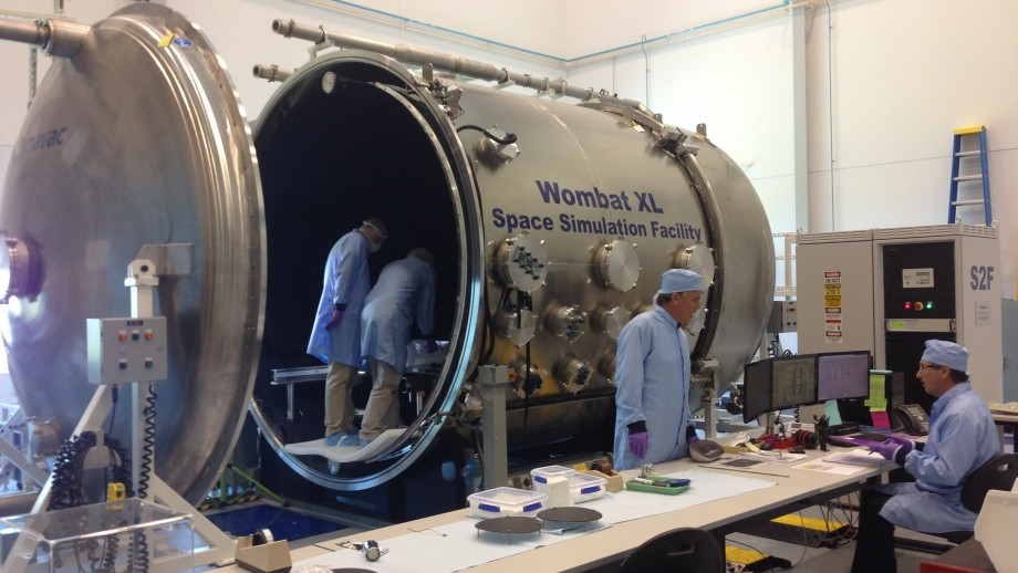 The space simulator in the Advanced Instrumentation Technology Centre. The only one of its kind in Australia!